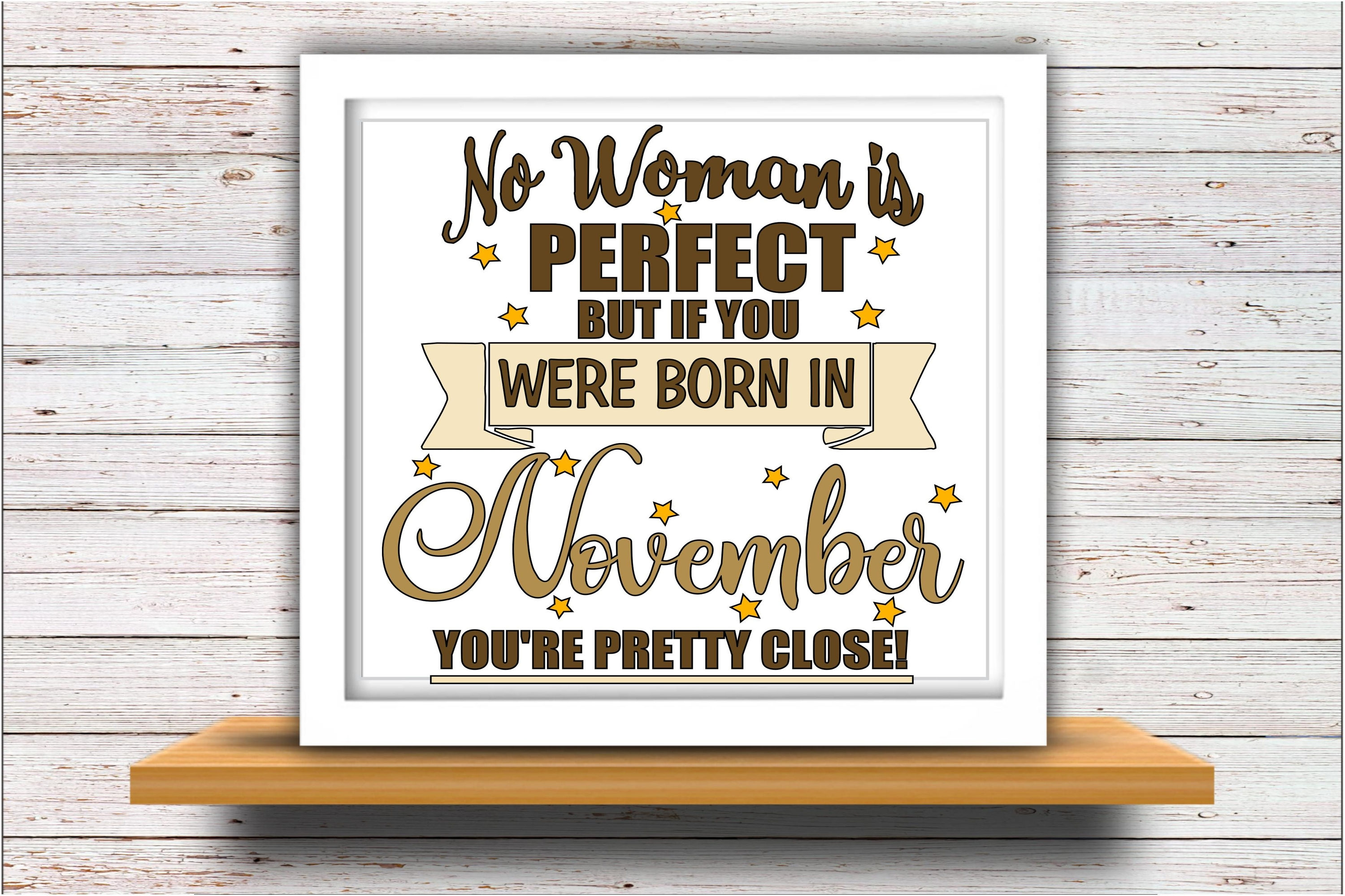 November SVG DXF JPEG Silhouette Cameo Cricut birthday girl example image 2