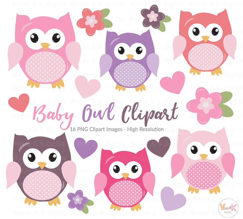 Cute Owls Clipart, Pink Owls Clipart, Digital Owls Clipart ...