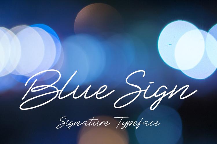 BlueSign Typeface example image 1