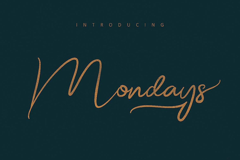 Mondays Script Font example image 5