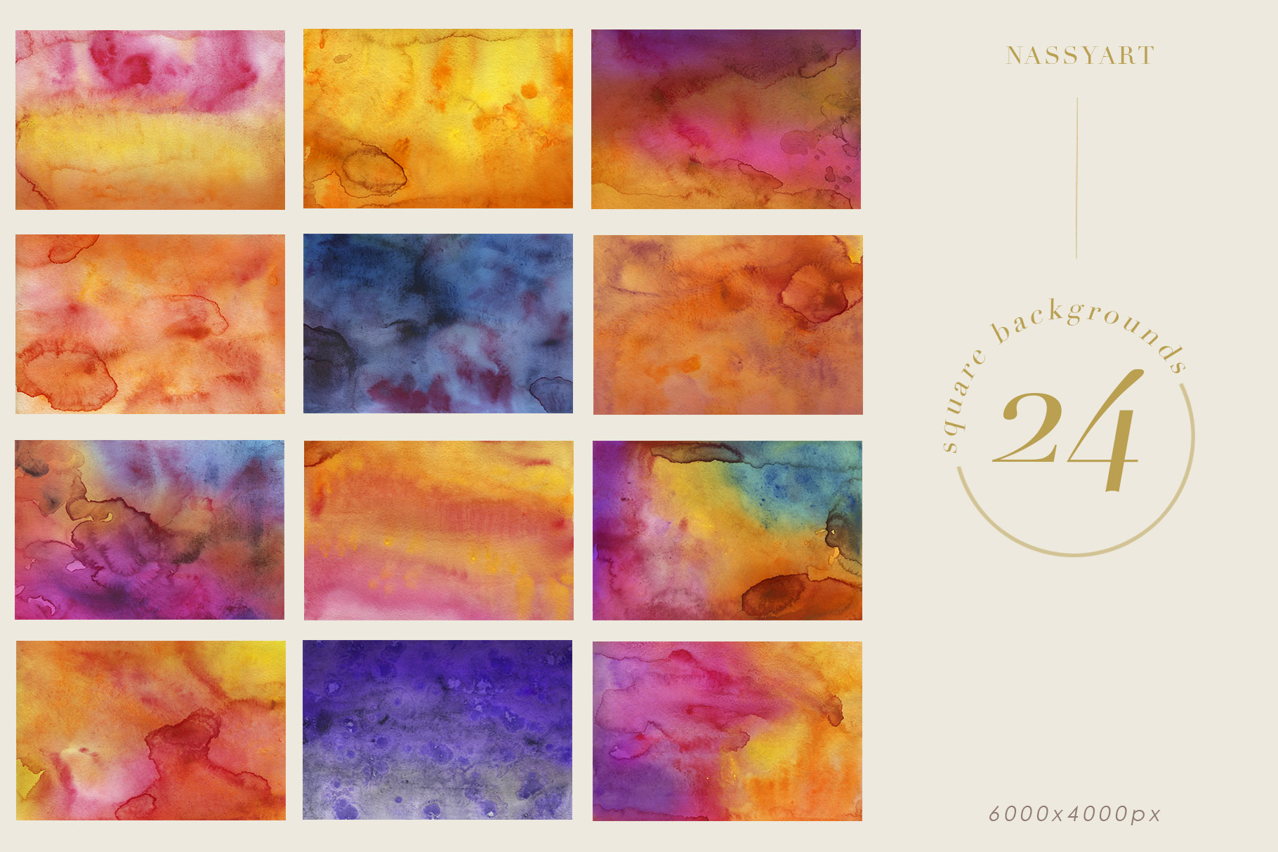 Luminoso Watercolor Textures example image 5