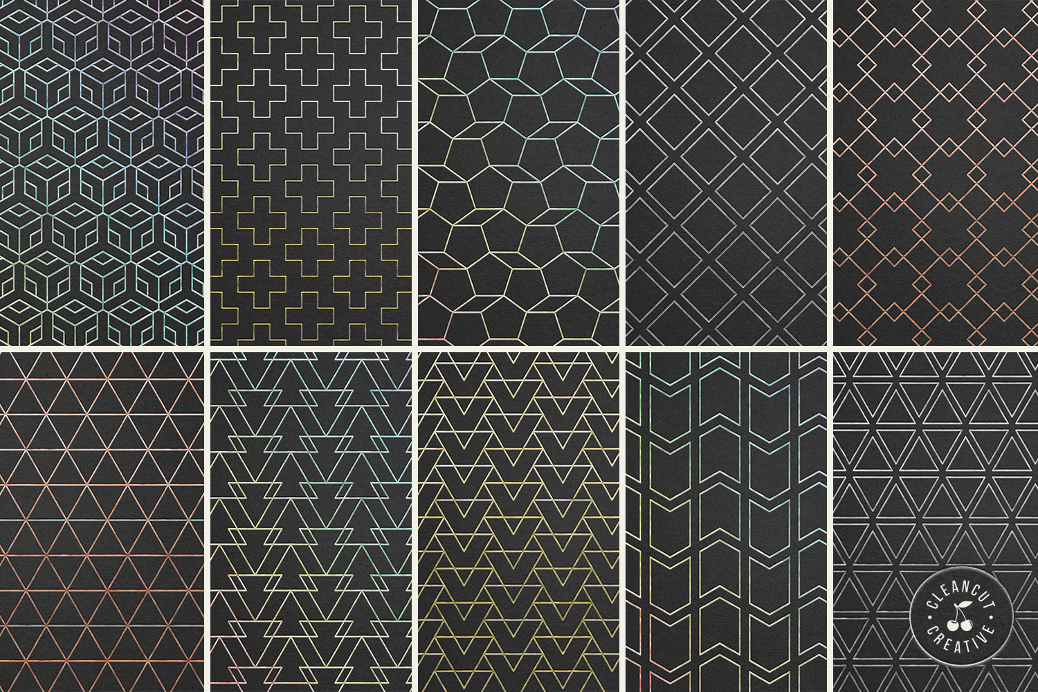 Foil Quill designs SVG   20 Geometric Single Line Patterns example image 3