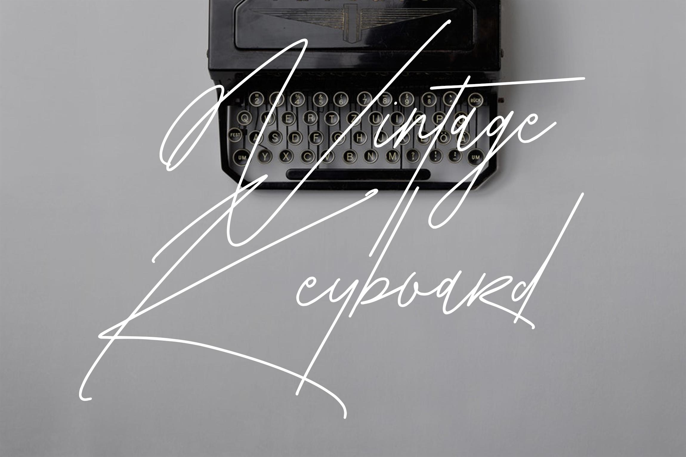 Saturasi Signature Typeface example image 3