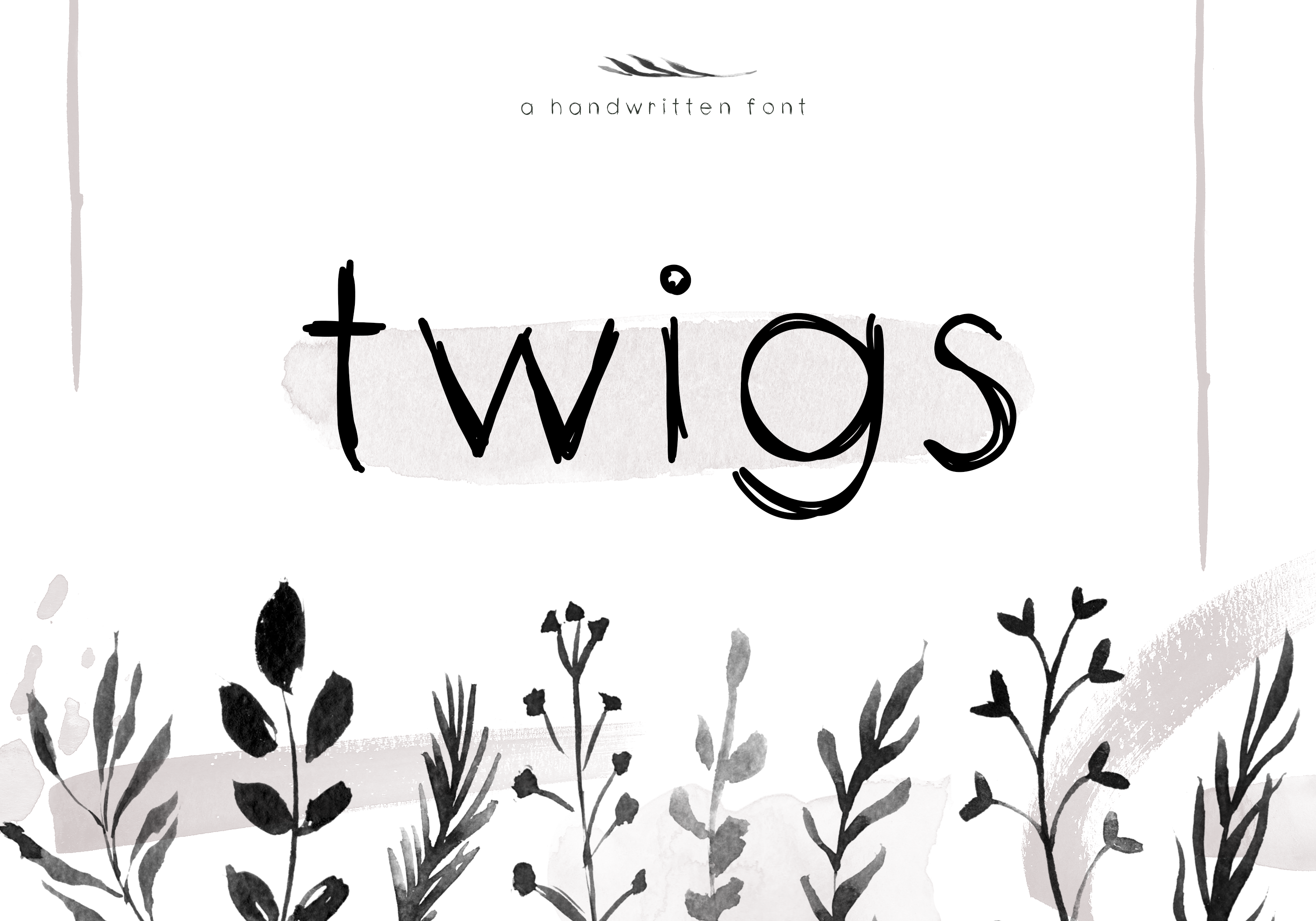 Twigs - A Handwritten Scribble Font example image 1
