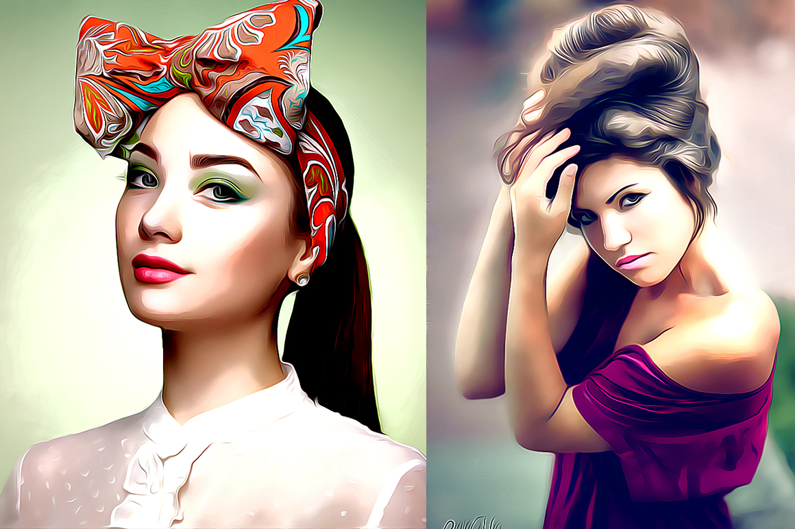 Professional cartoon Oil Painting Effect example image 2