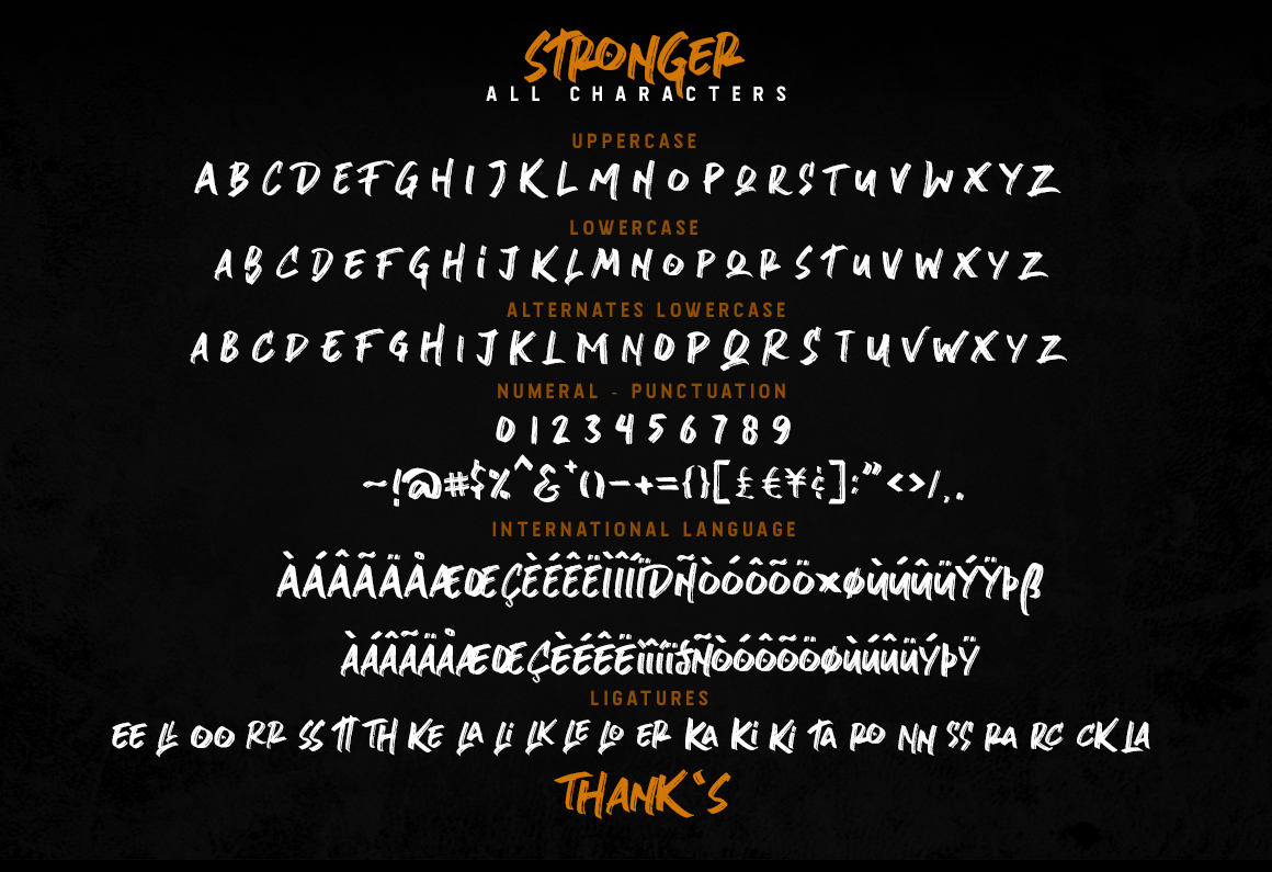 Stronger- urban brush font example image 8