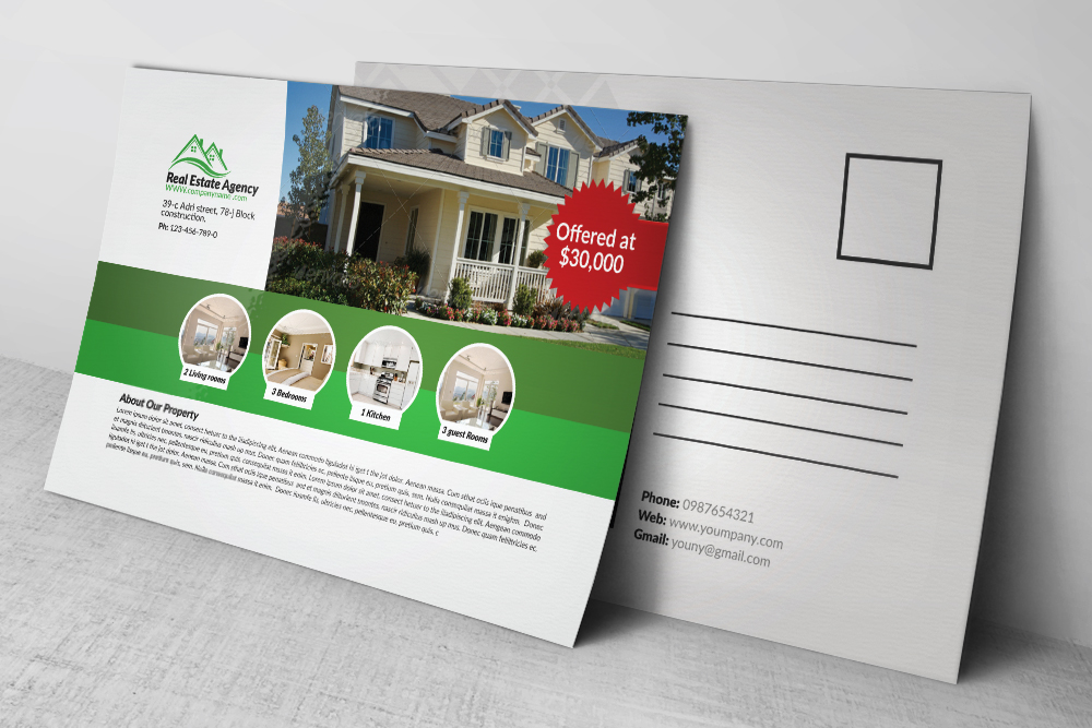 Real Estate Agency Postcards example image 3