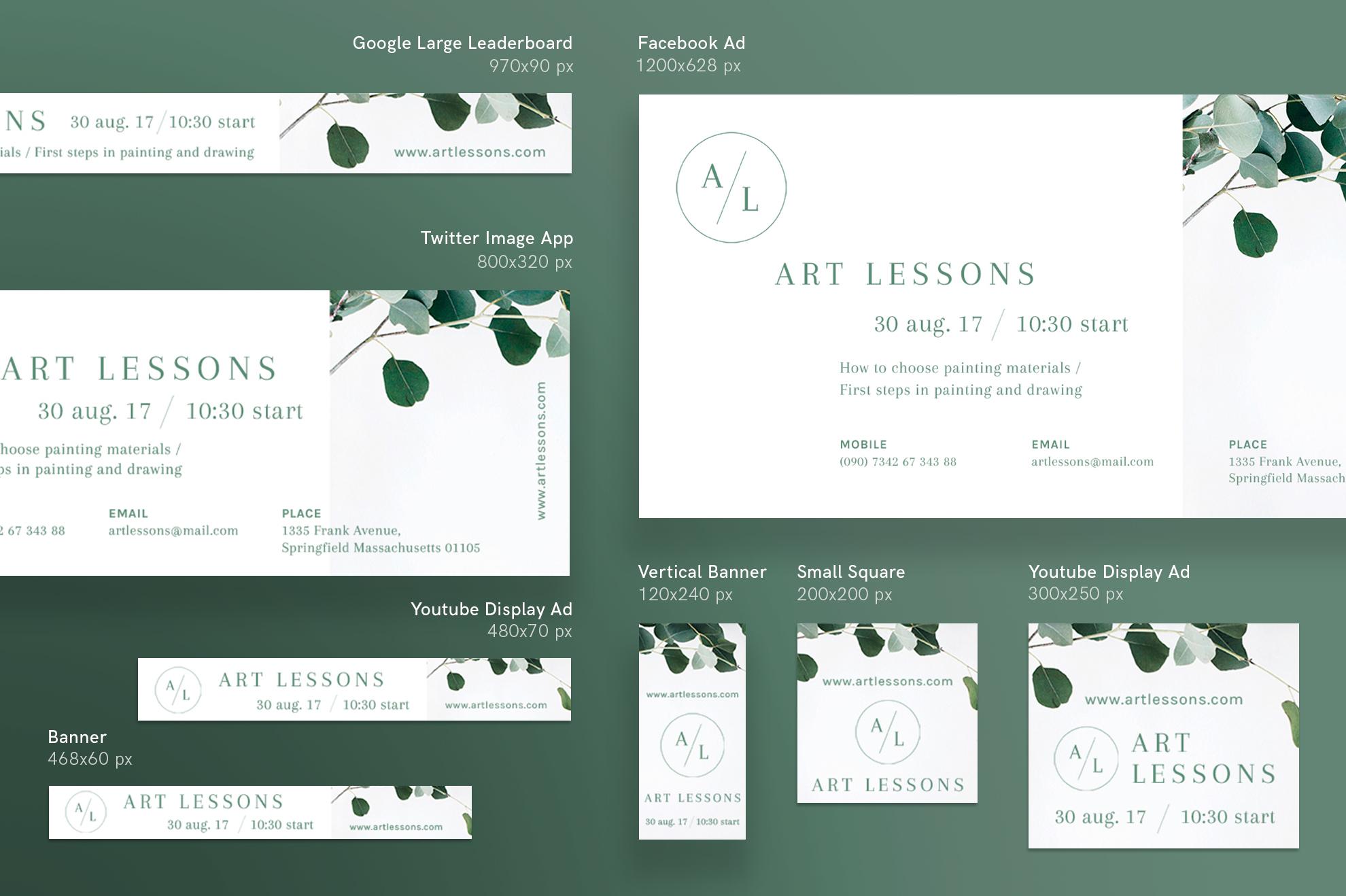 Art Lessons Masterclass Workshop Design Templates Bundle example image 12