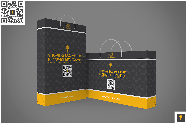 Shopping Bag Mock-up example image 4