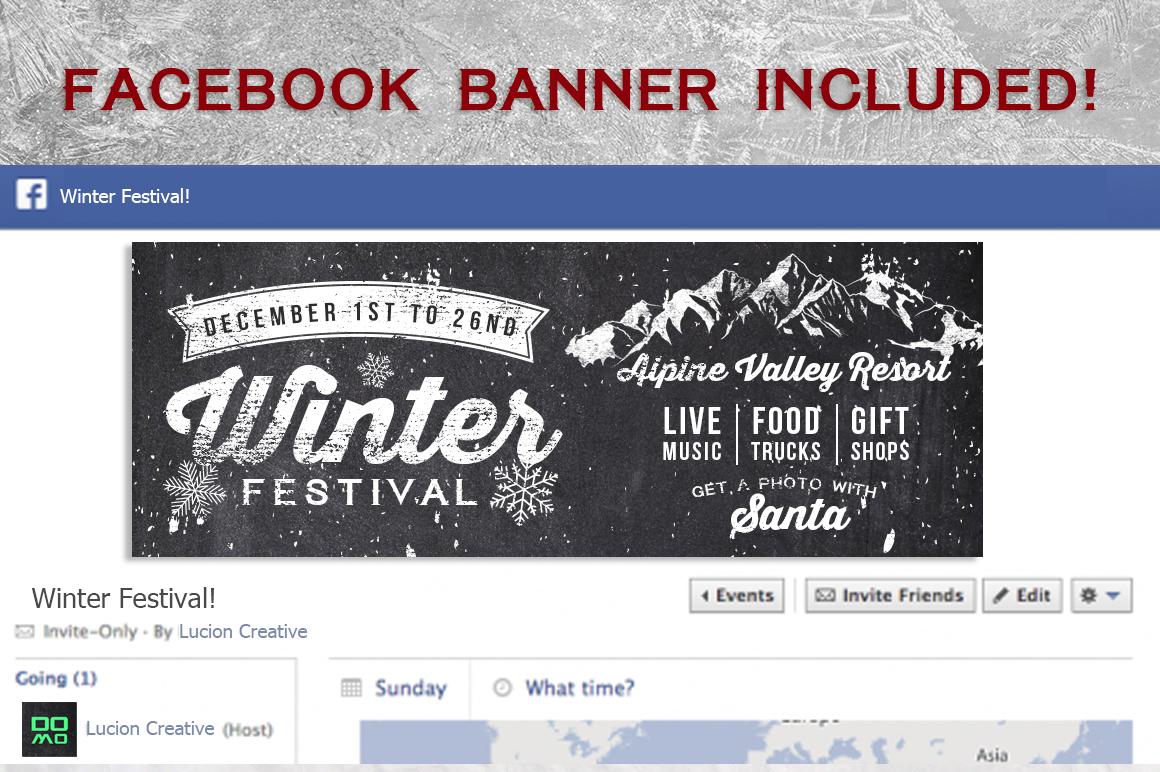 Chalk Winter Festival Flyer example image 3