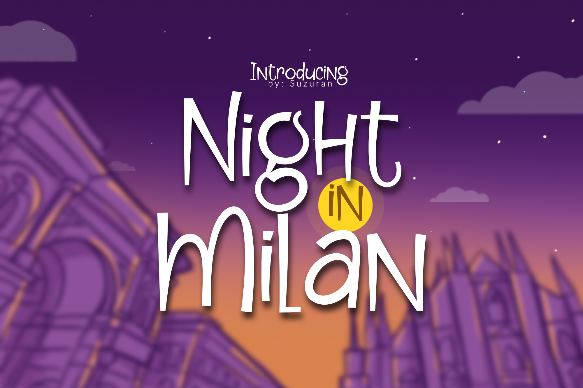 Night in Milan example image 1