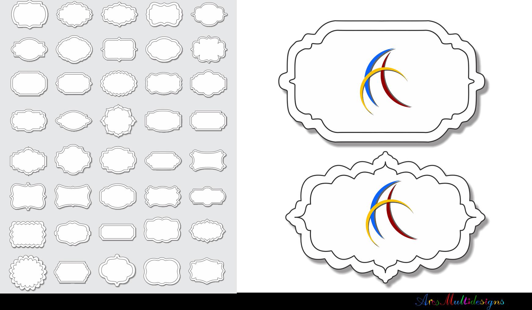 Label clipart bundle / digital label clipart bundle / frames bundle / high quality frames / digital frames clip art / label clipart example image 8