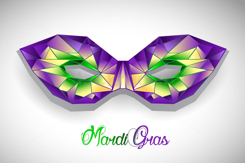 Polygonal Mask Mardi Gras example image 1