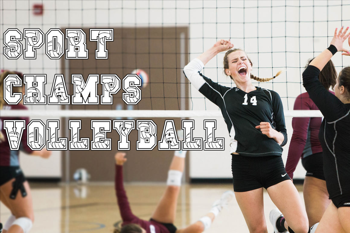 Sport Champs Volleyball Font example image 1