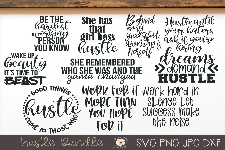 Hustle SVG Bundle, 10 SVG Designs example image 1