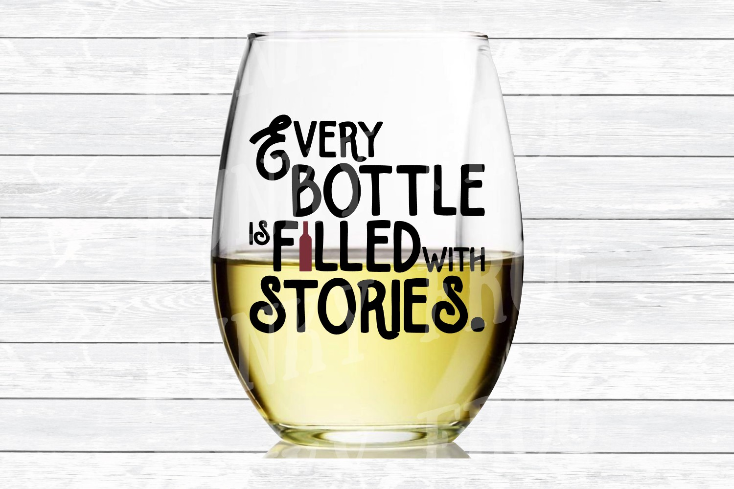 Every Bottle is Filled with Stories - Wine SVG Cut File for example image 3