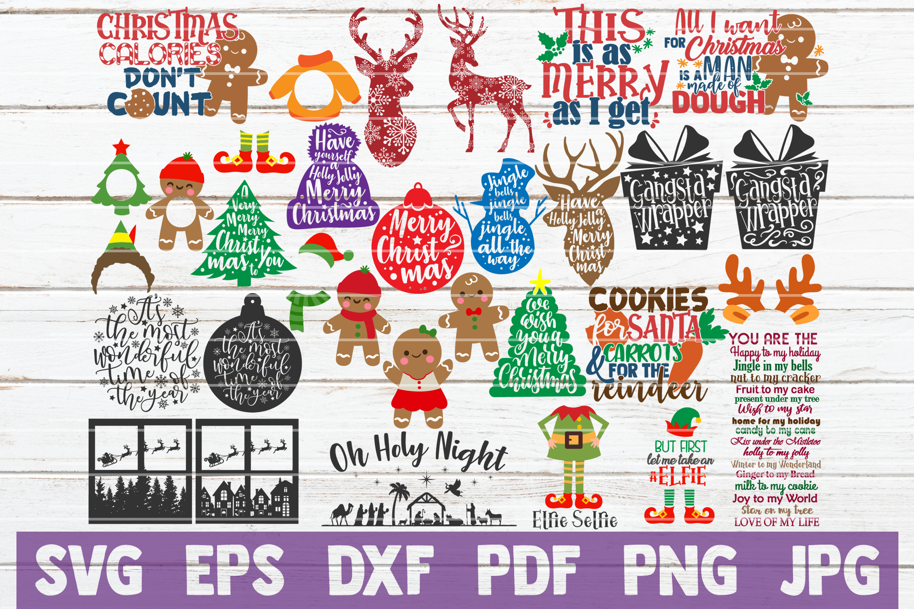Christmas SVG Bundle | SVG Cut Files example image 1