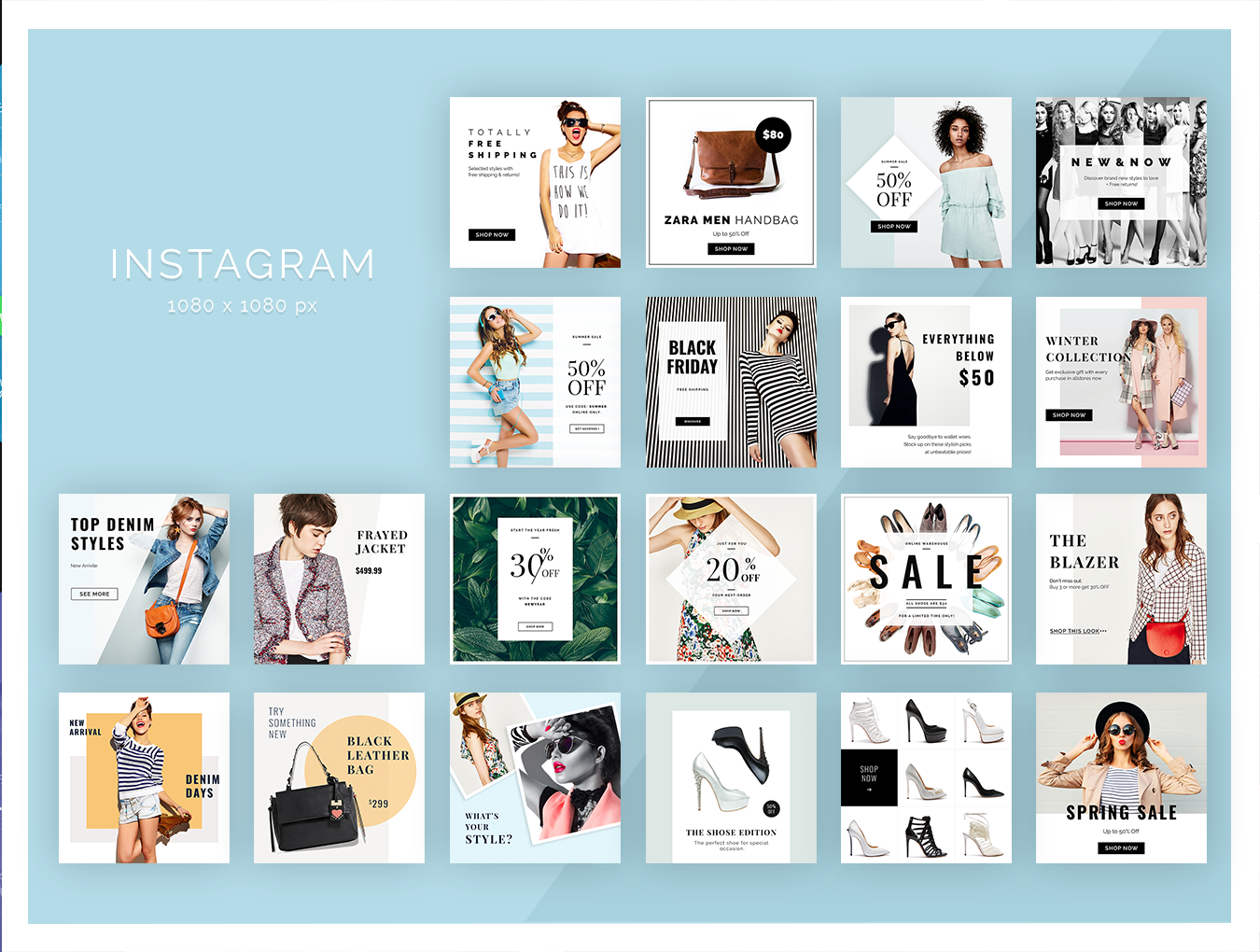 Fashion Social Media Pack example image 3