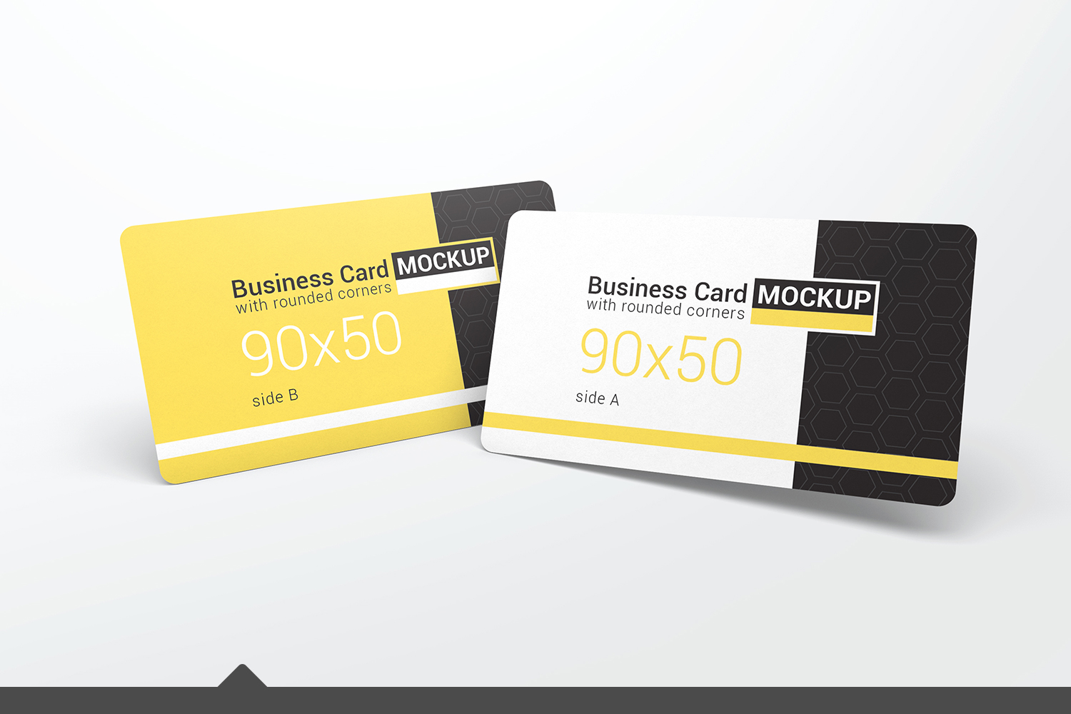Business card with rounded corners mock design bundles business card with rounded corners mockups example image 1 reheart Image collections