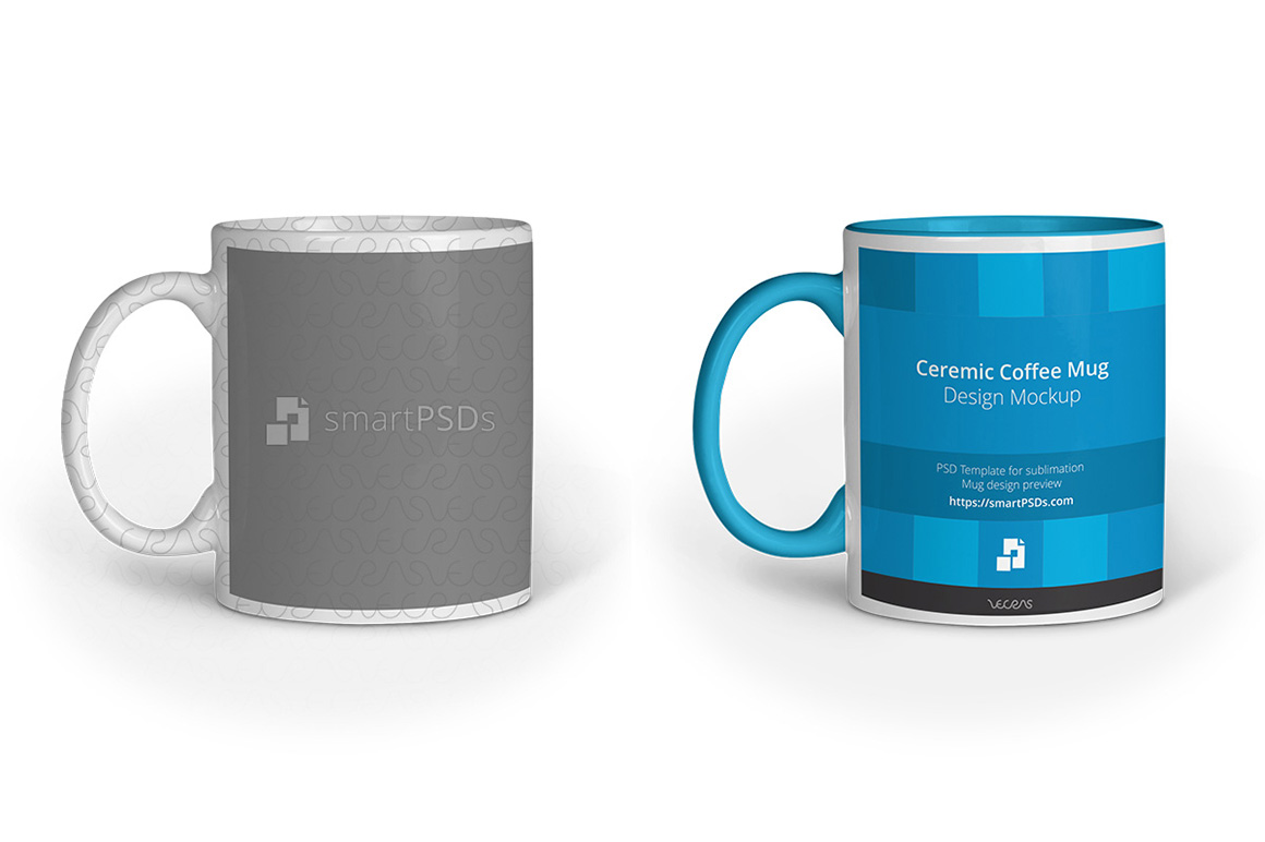 Coffee Mug for Sublimation Preview Design Template (25693 ...