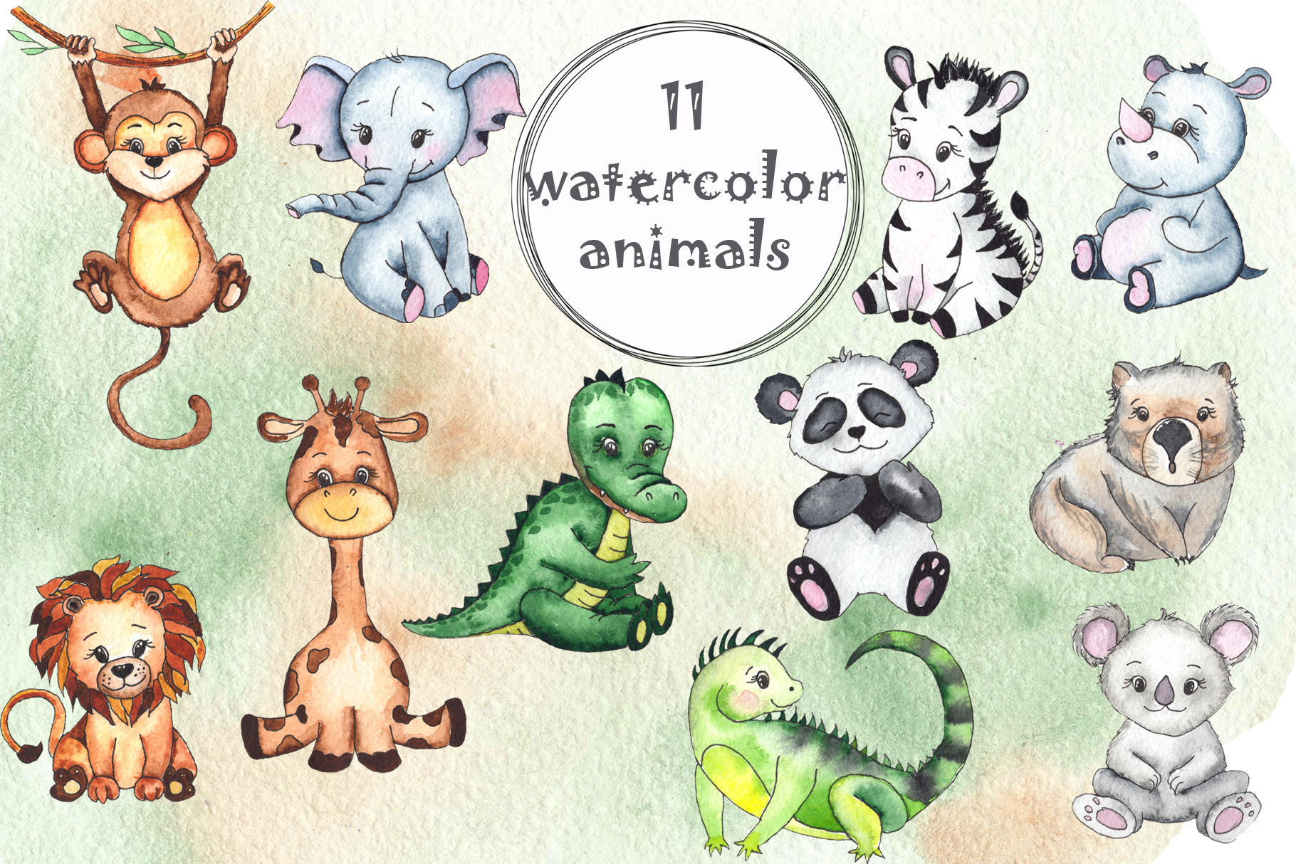 Watercolor childrens collection example image 14