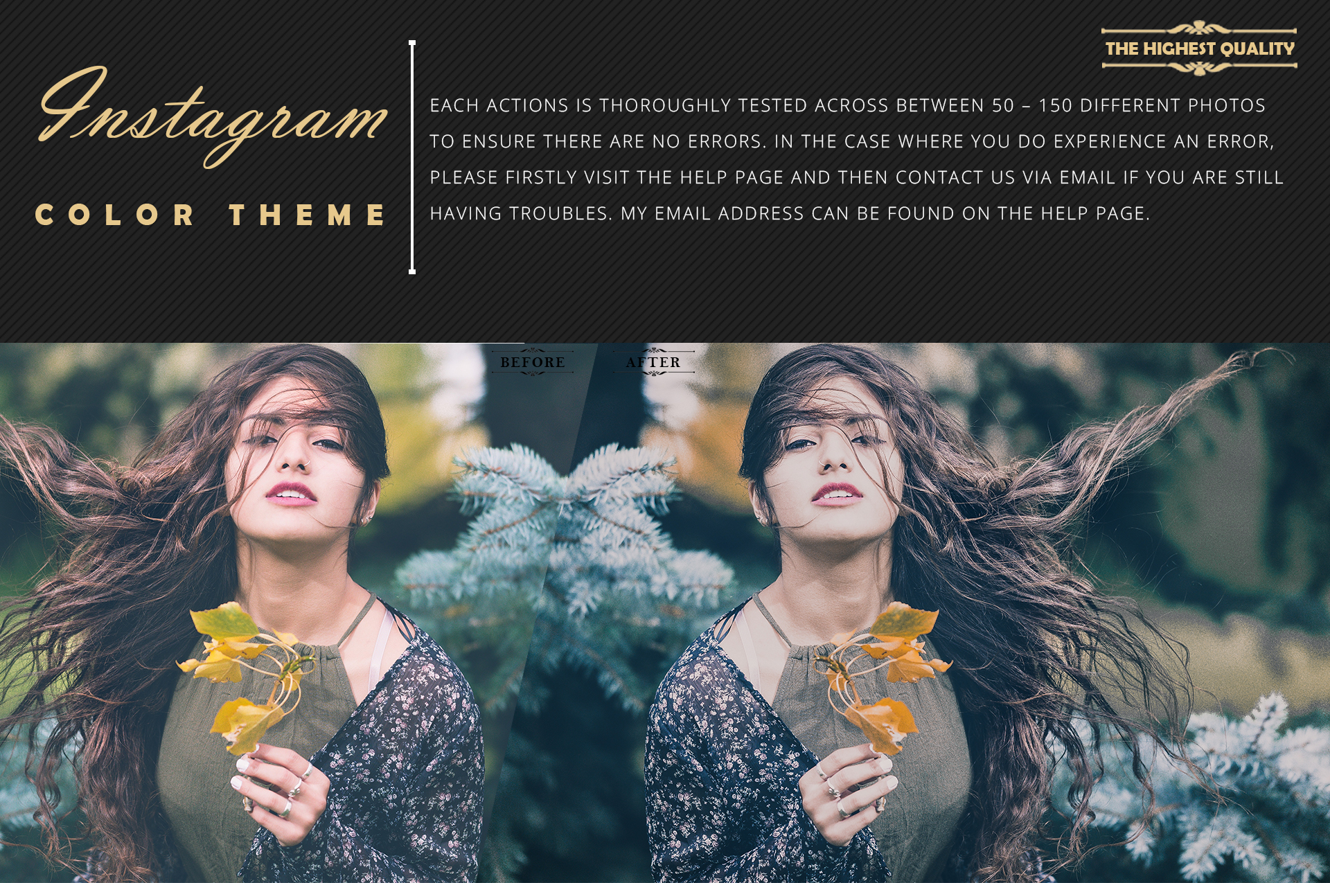Instagram Color Grading photoshop actions Filter example image 6