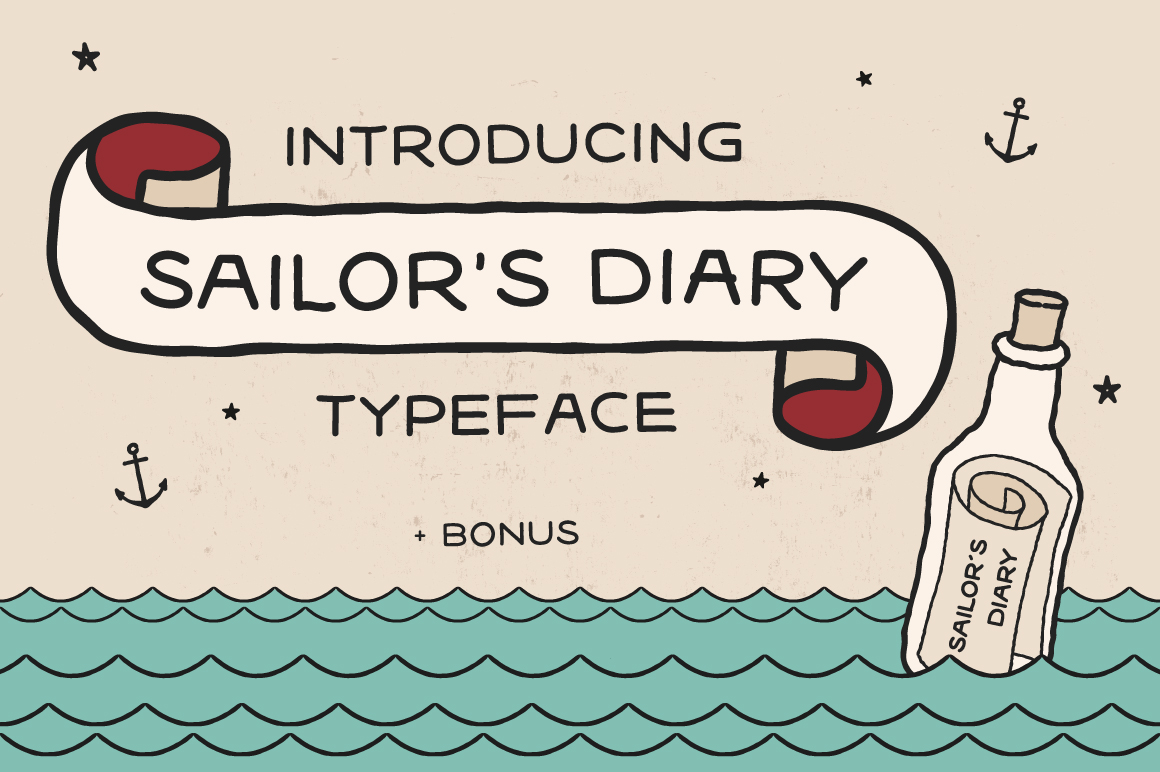Sailors Diary Sans Tattoo Style Font example image 1