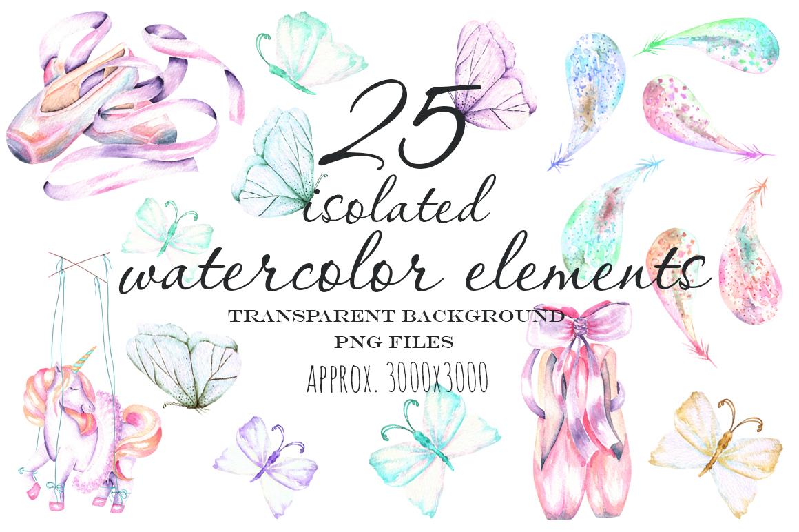 Ballet watercolor clip art example image 5