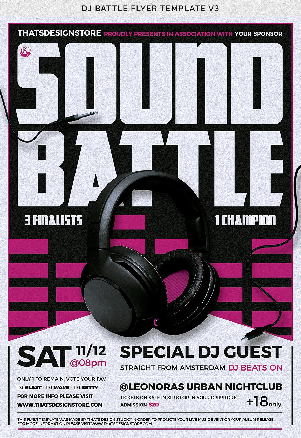 DJ Battle Flyer Template V3 example image 11
