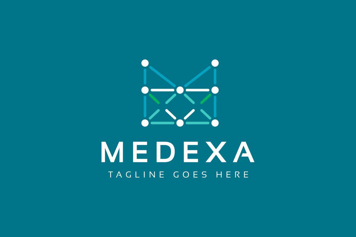 Medexa M Letter Logo example image 2