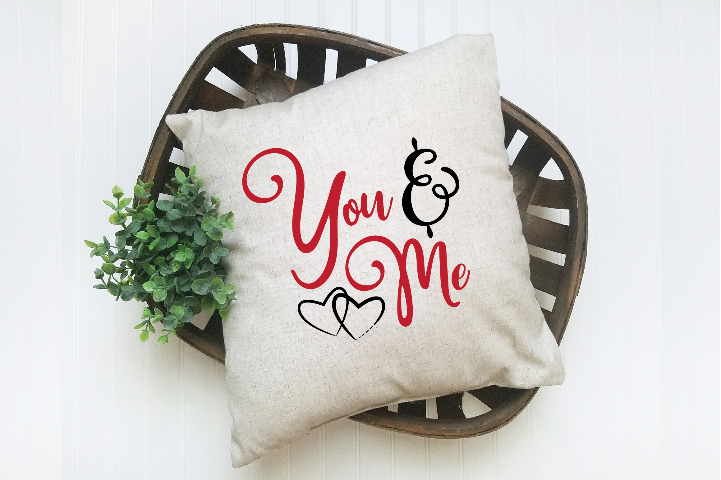 You & Me SVG Cut File - Valentine SVG EPS DXF PNG PDF AI example image 6