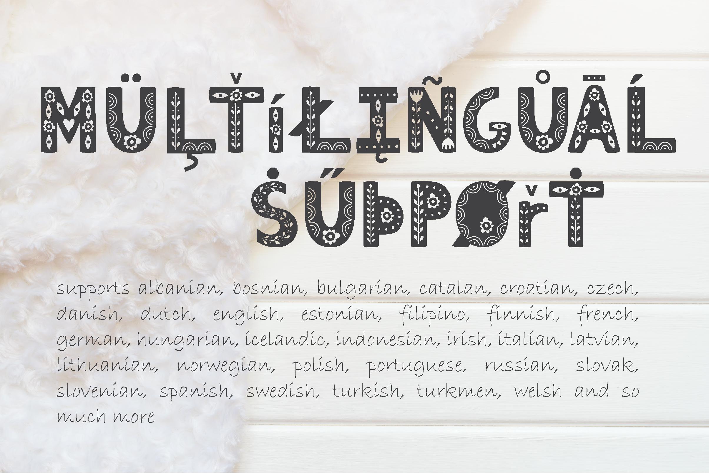 Hygge Scandinavian font example image 9