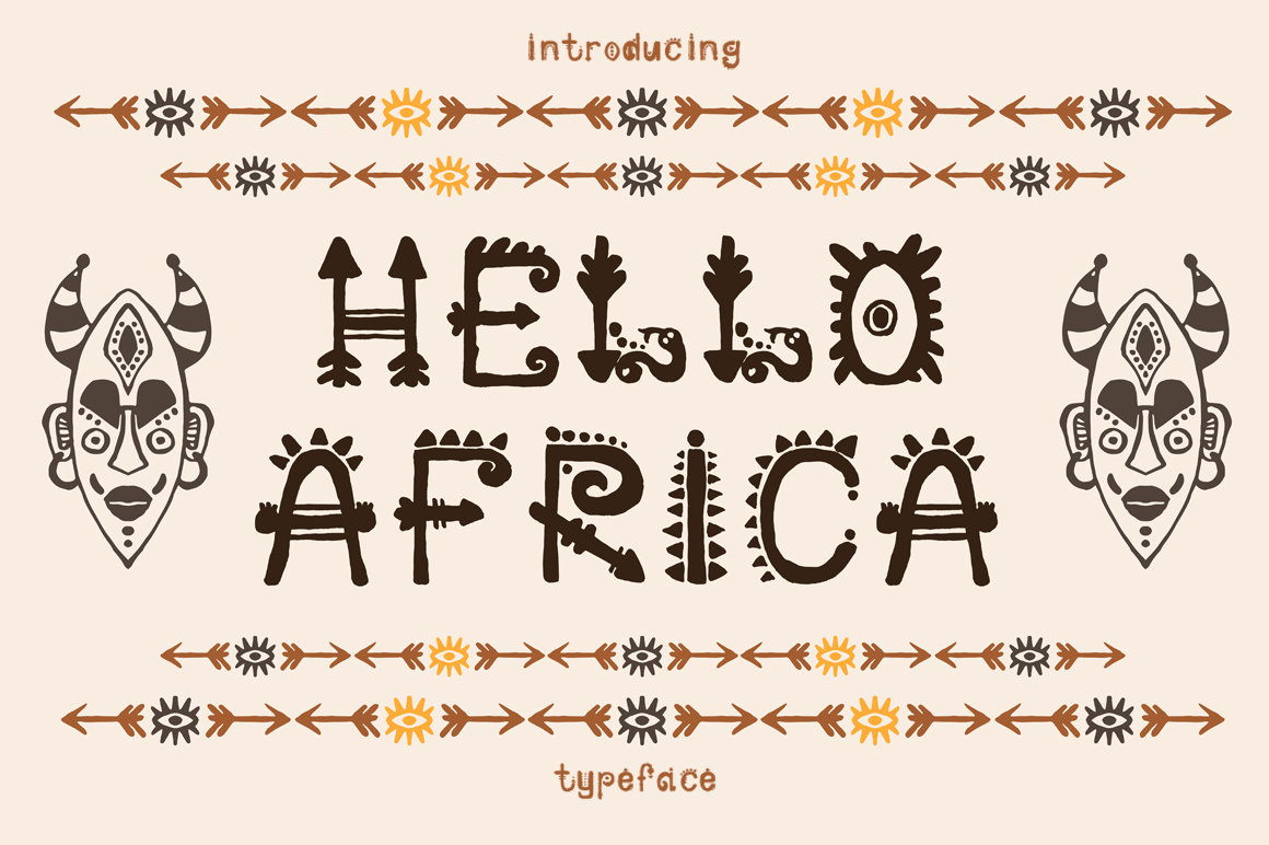African Font  example image 1