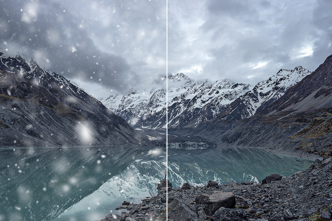 Snow Photoshop Action example image 3