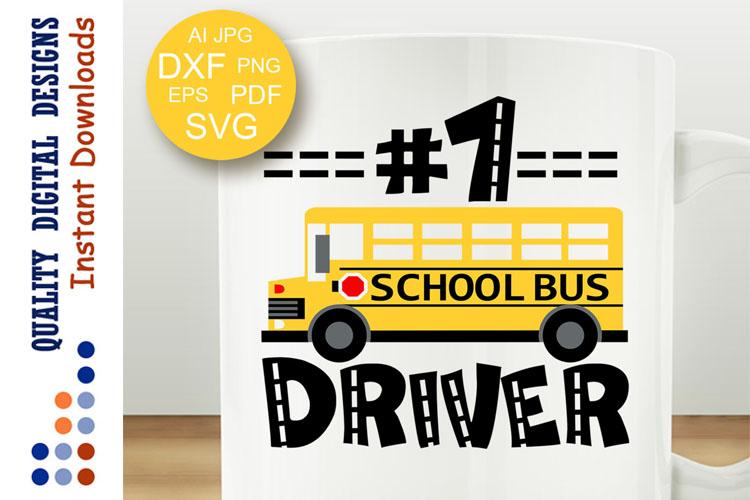 School bus driver svg example image 1