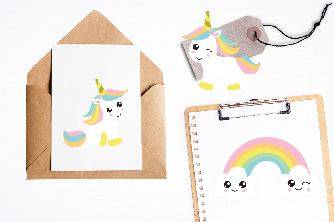 Unicorn Babies graphics and illustrations example image 4