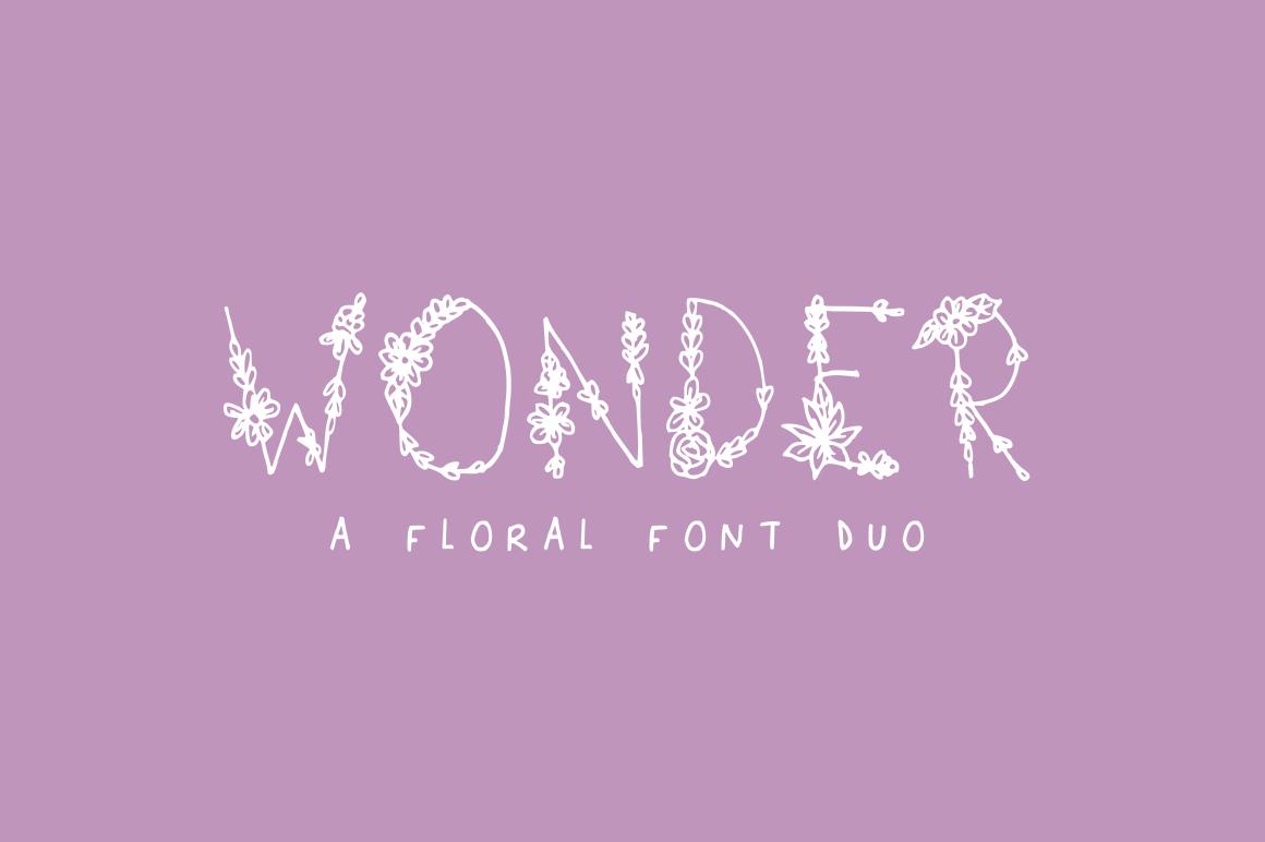 Wonder Floral Font example image 1