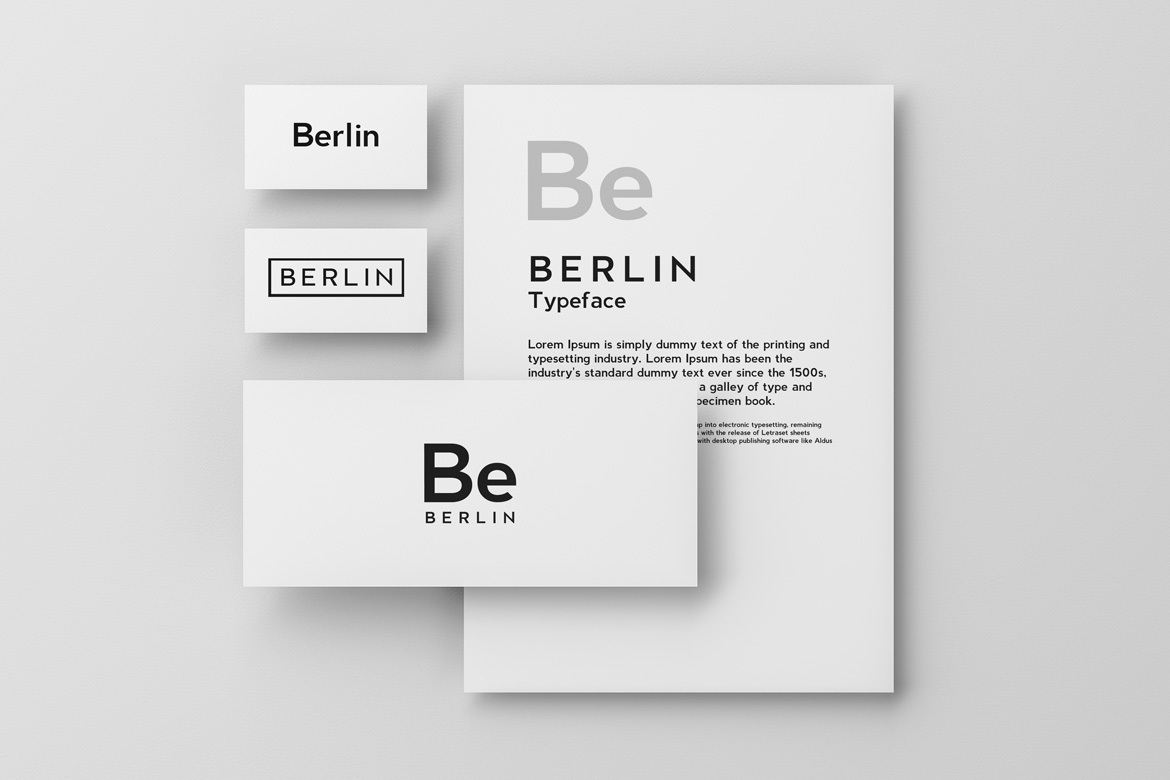 BERLIN - Minimal Typeface & Web Fonts example image 5