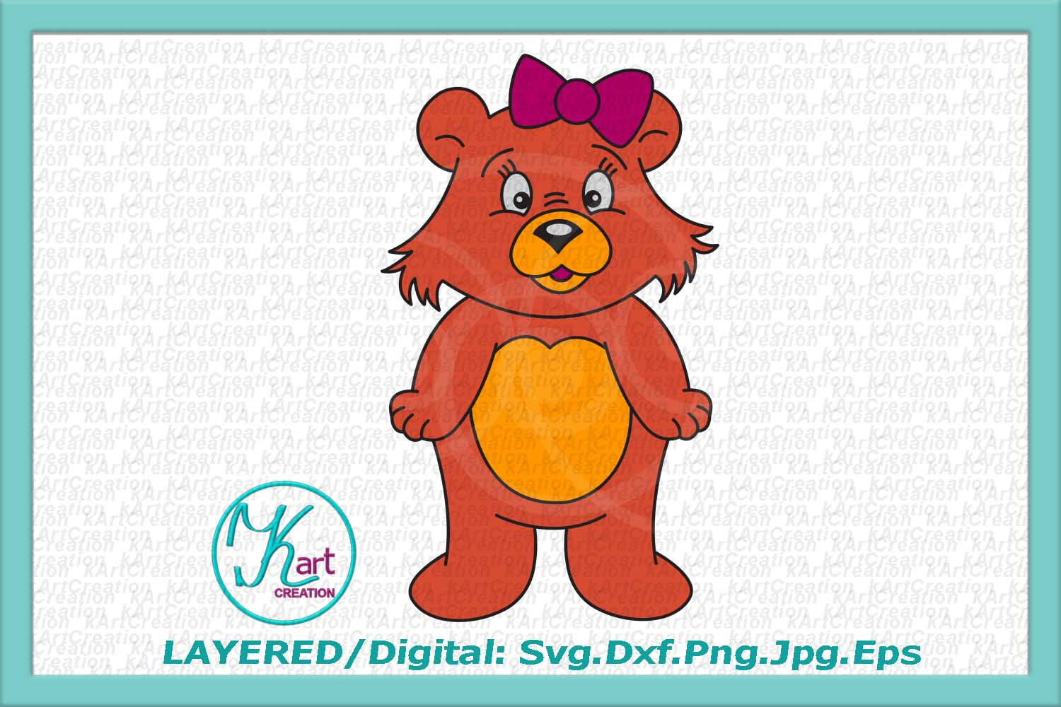 bear svg, cute bear svg, cute bear clipart, bear boy girl example image 5