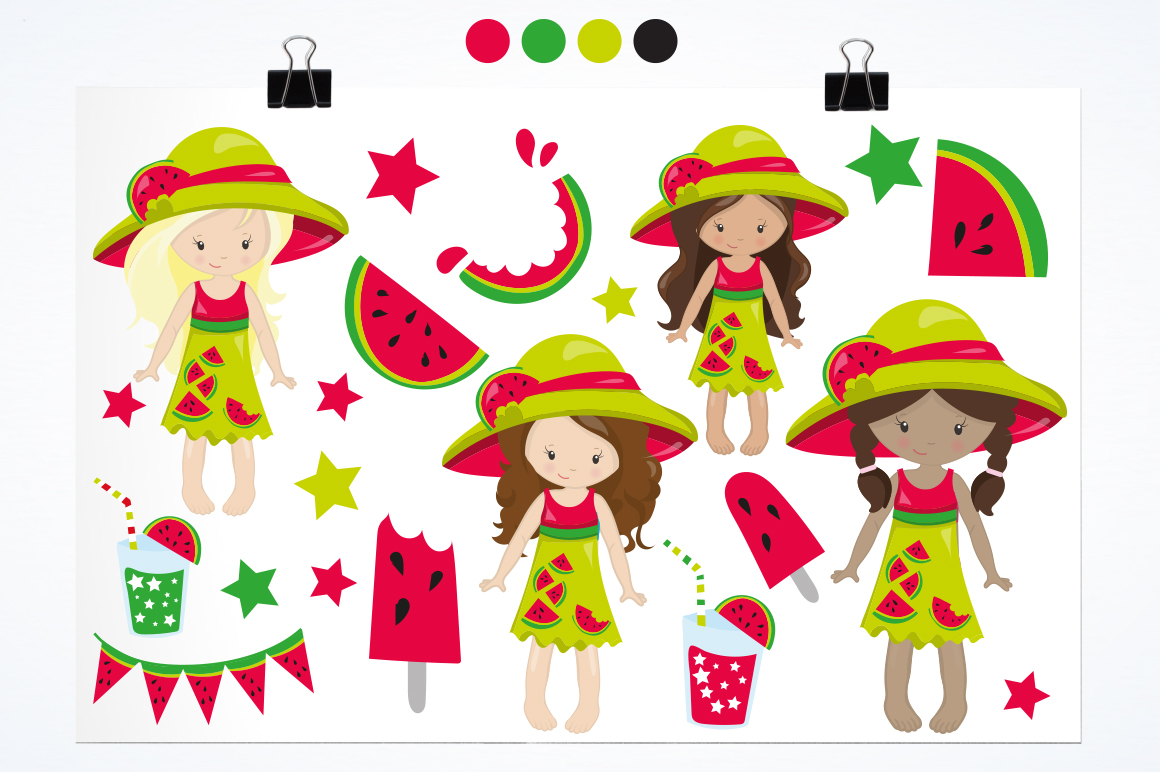 Watermelon Girls graphic and illustrations example image 2