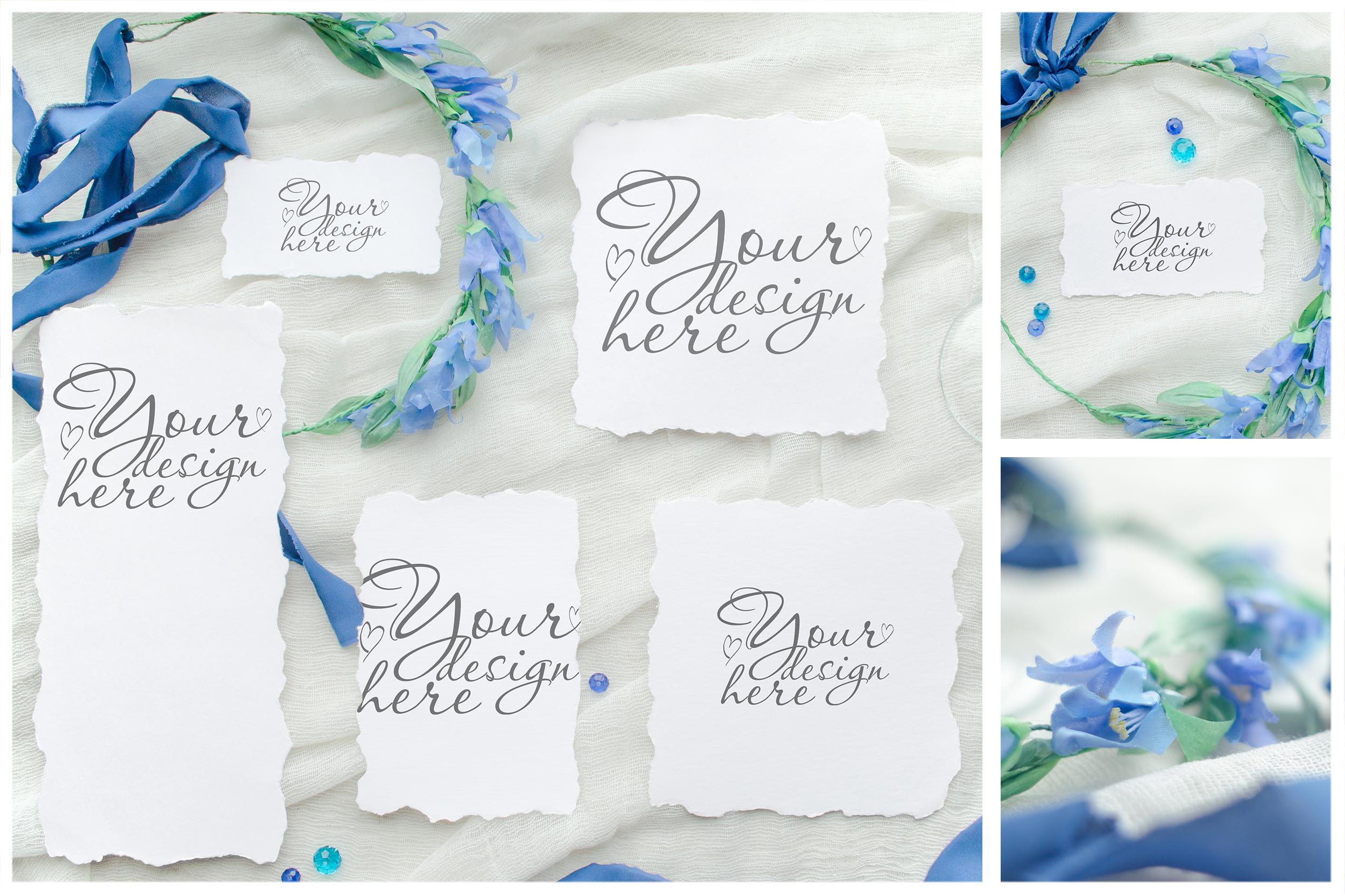 Something blue. Wedding mockups & stock photo bundle example image 11