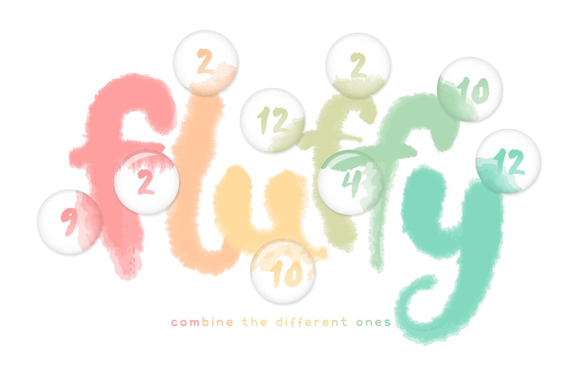 Fluffy Brushes for Illustrator example image 3