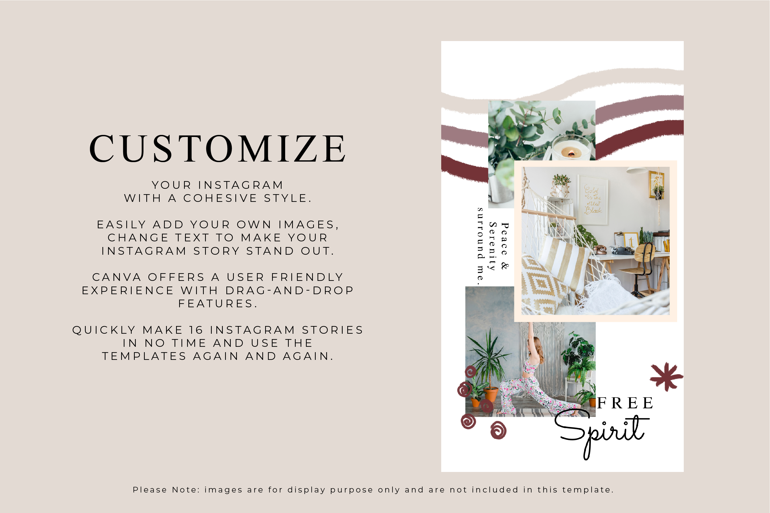 Instagram Story Canva Template - Free Spirit example image 3