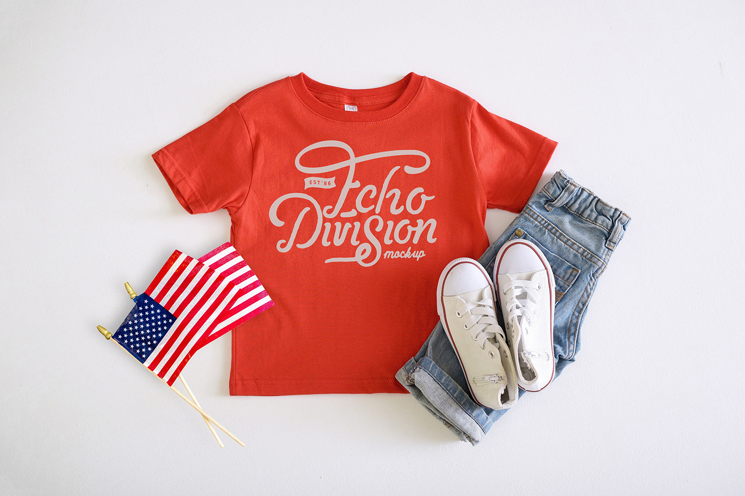 4th of July Mockup- Toddler Jersey Tee - 3321- Red example image 1