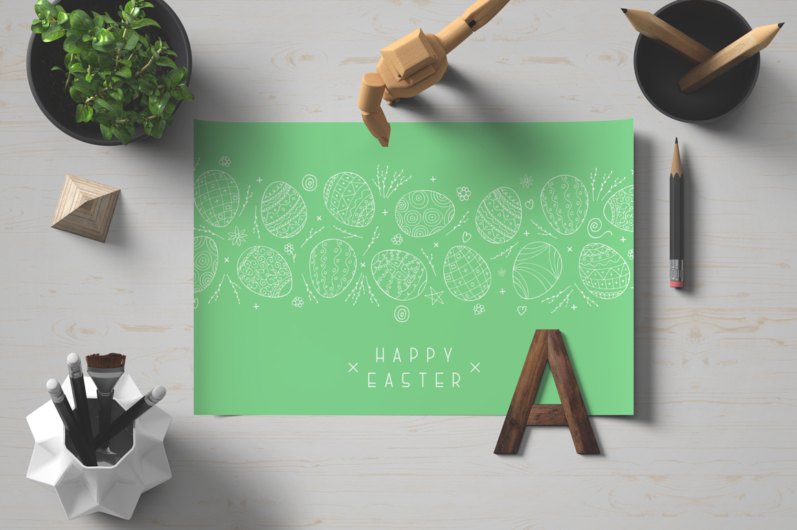 Hand drawn Happy Easter cards example image 4