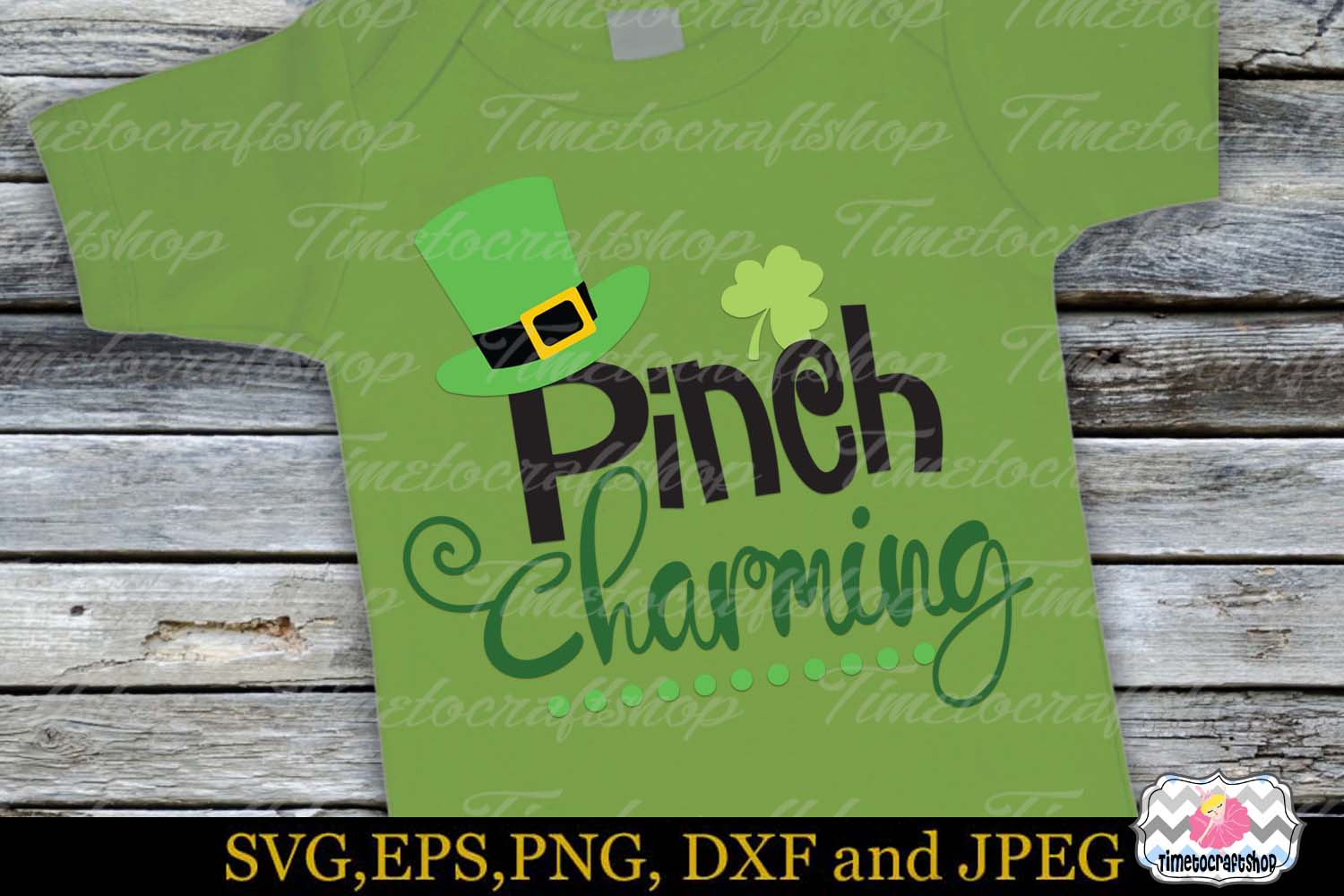 SVG, Dxf, Eps & Png St Patrick's Day Pinch Charming example image 1