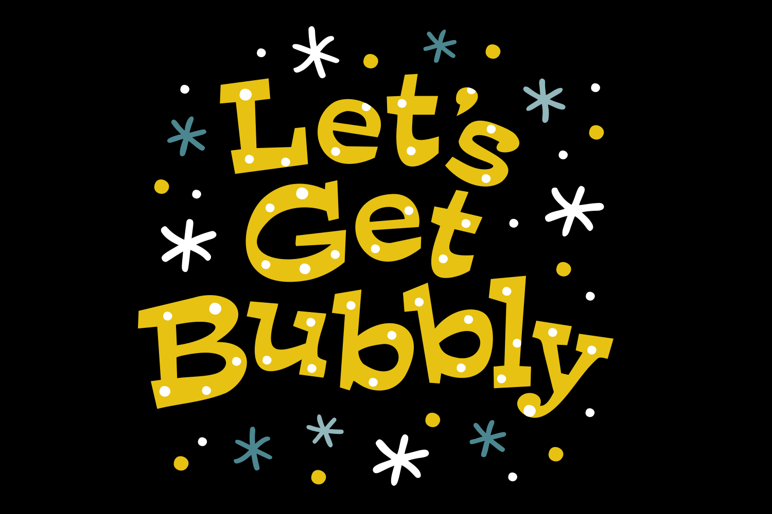 New Years SVG, Lets Get Bubbly SVG, SVG Cut file example image 3