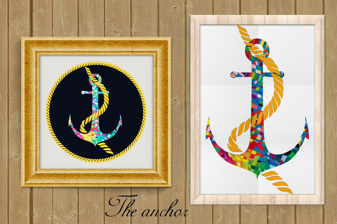 Anchor Pazzle signs set. example image 2