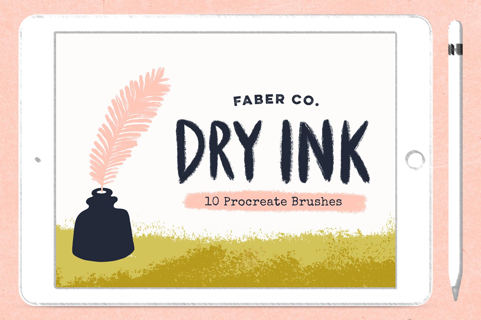 Dry Ink Procreate Brushes example image 1