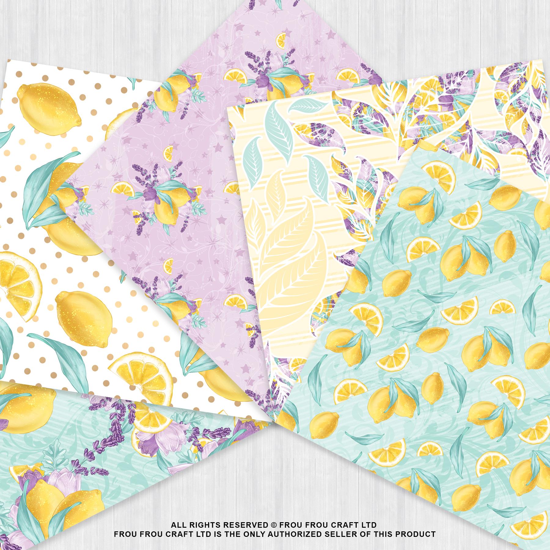 Lemons Fruits Lavender Citrus Summer Paper Pack example image 3